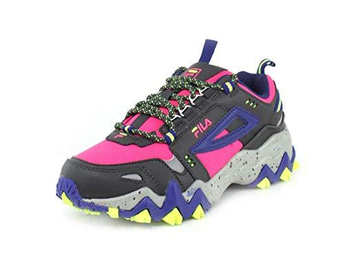 Fila Womens Oakmont TR Pink Glo/Mazarine Blue/Metallic Silver Sneaker - 6