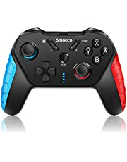 Smooce Nintendo Switch Controller,Wireless Switch Pro Controller met 6-assige Gyro verstelbare Turbo Dual Vibration Motor Multifunctioneel, Gamepad Joystick voor Nintendo Switch Games [nintendo_switch]…