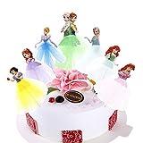 7pcs Cupcake Topper Picks – Princess Themed Cupcake Toppers For Kids Party(Anna, Ariel,Cinderella, Elsa, Sofia,Snow White )