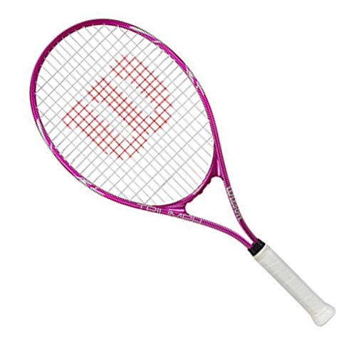 Tennisschläger for Anfänger Multi-Color Optional Outdoor Sport Schläger College-Tennis-Schläger (Color : Pink, Size : 70cm)
