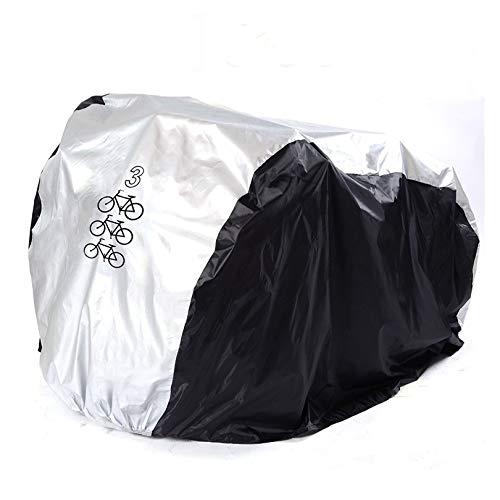 Fahrradabdeckung Wasserdicht FUCNEN Fahrradabdeckungen Tragbar Leicht Fahrradabdeckung 2 3 fahrräder Außen- und Innenaufbewahrung, robust Staub, Regen, UV schutzhuelle fahrraeder fahrradgarage