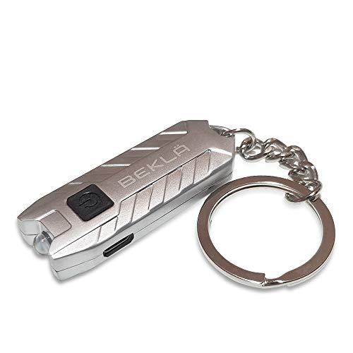 Preisvergleich Produktbild BEKLA LED Schlüsselanhänger Taschenlampen Wiederaufladbare Mini Keychain Licht