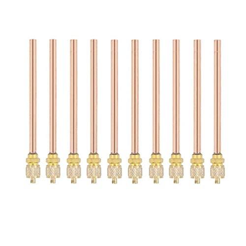 10 Piezas de Repuesto de Aire Acondicionado, Tubo de Cobre de 0.6 mm de Espesor, Longitudinal de Tubo de Cobre de 90 mm, Kit de de Enchufe de válvulas de Acceso