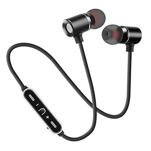 AN Laufendes Bluetooth-Headset, In-Ear-Kopfhörer Mit Hängendem Nacken Binaurale Stereo-Funkkopfhörer in HD-Qualität,Schwarz