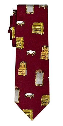 Cravate antiques burgundy
