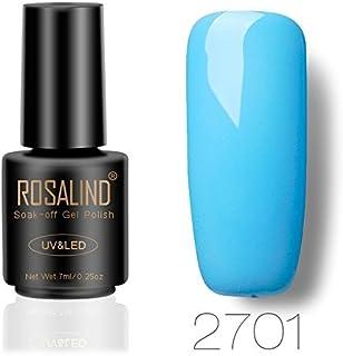 ROSLAIND Gel Esmalte de uñas Soak Off UV LED Esmalte Manicura Pedicura salón 7 ml (1) color azul