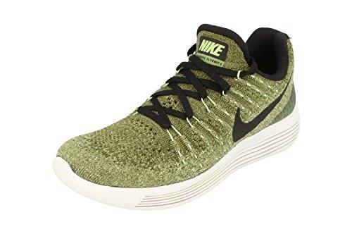 Nike Women's Lunarepic Low Flyknit 2 Running Shoe (5.5, Palm Green/Black/Vapor Green/Rough Green)