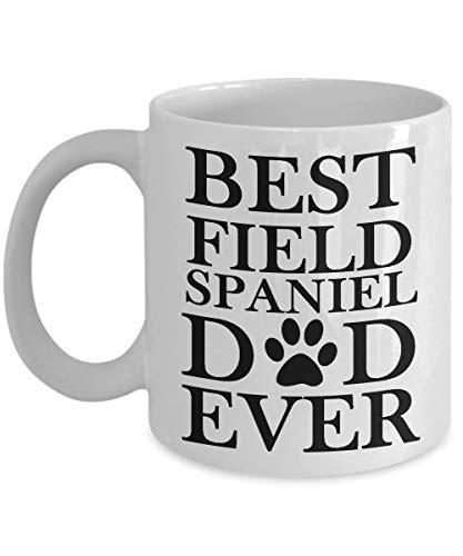 Taza divertida del día del padre - El mejor papá del perro de aguas de campo - Idea de regalo de paternidad de la hija, hijo, esposa - Regalo de cumpleaños único Taza de café novedosa para padres, hom