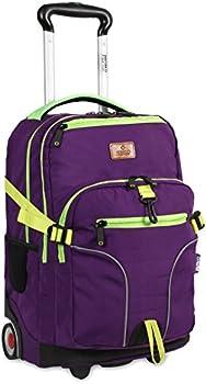 J World New York 19.5 Inch Lunar Laptop Rolling Backpack