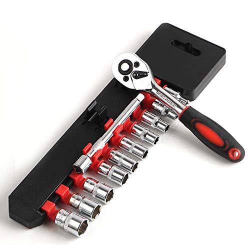 CLJ-LJ Establecer Teclas Multitool Teclas de combinación Llave de trinquete Juego de herramientas de reparación de coches Herramientas de mano Herramientas Set (Color : Wrench Socket)