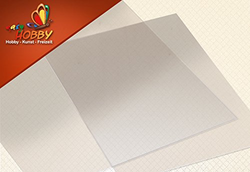 einseitig klebende Folie, transparent, 5 Blatt DIN A4, 0,08mm dick
