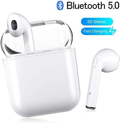 XIUZHIYU Bluetooth-Kopfh/örer,Kabellose Kopfh/örerr IPX7 wasserdichte,Noise-Cancelling-Kopfh/örer,Ger/äuschisolierung mit 24H Ladek/ästchen und Mikrofon f/ür Android//iPhone//Samsung//Apple AirPods Pro
