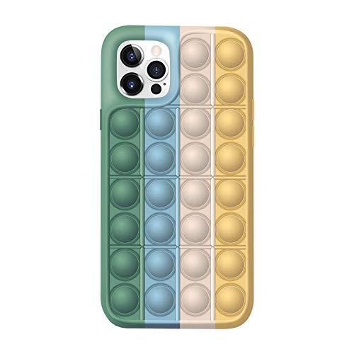 CEKELL para iPhone12 Pro Max Caja de teléfono de silicona de ajedrez de pensamiento creativo Funda protectora de teléfono de juguete resistente al estrés Funda protectora a prueba de golpes