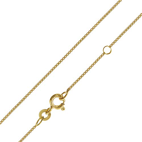 trendor Kinder-Halskette 333 Gold 38/36 cm Venezianer Kette 0,7 mm Goldkette für Mädchen und Jungen, Geschenkidee, Kette aus Echtgold 75619