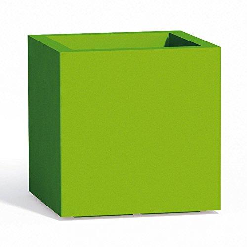 Vaso Cube In Resina Quadrato H40 Verde 40x40Cm