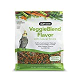 ZuPreem VeggieBlend Smart Pellets Bird Food for Medium Birds, 2 LB Bag - Made in USA, Daily Nutrition, Essential Vitamins, Minerals for Cockatiels, Quakers, Lovebirds, Small Conures