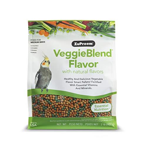 ZuPreem - Alimento para Aves Medianas VeggieBlend   Pienso Agapornis, Caiques, Cotorras y Ninfas - 900 g