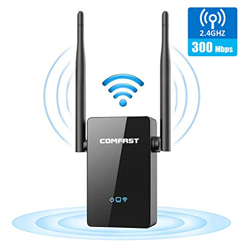 WiFi Extender, 300Mbps WiFi Range Extender, WiFi Repeater, WiFi Signal Booster, Access Point | Easy Set-Up | External Antennas & Compact Designed...