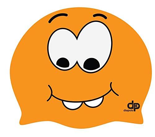 Diapolo Professionale Schwimmkappe Monster Orange Silikon Badekappe Bademütze Schwimmmütze für Damen und Herren und Mädchen und Jungen