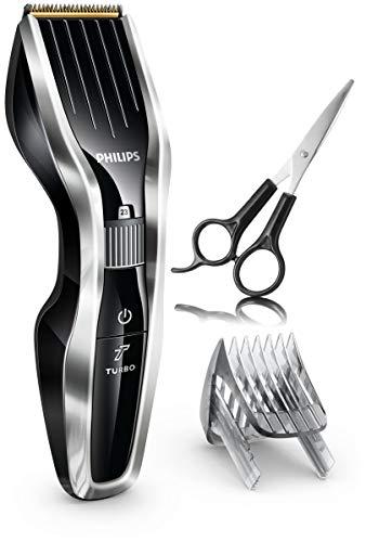 Philips HAIRCLIPPER Series 7000 HC7450/33 Haarschneider und Rasierer, Schwarz, Silber, wiederaufladbar – Rasierer (Schwarz, Silber, 0,5 mm, 2,3 cm, 4,1 cm, Stahl, 120 Min)