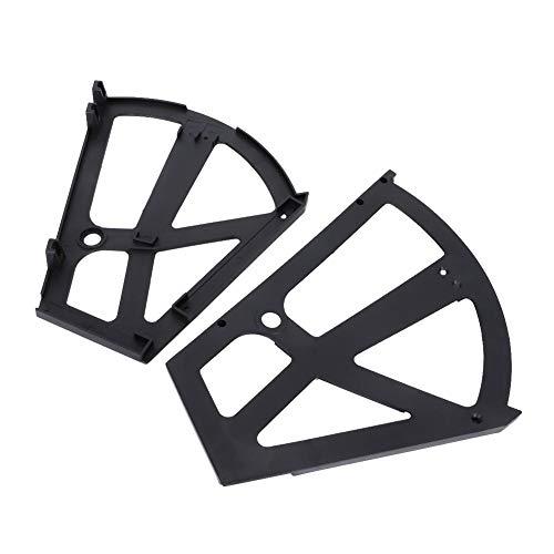 Bisagras del soporte del estante, organizador de zapatos, sala de estar elegante del estante del gabinete de zapatos del ABS para el dormitorio(black)