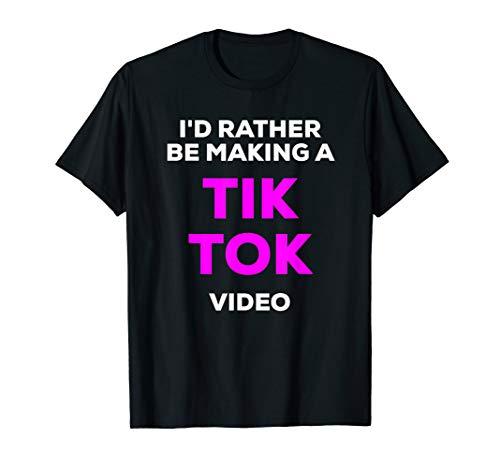 Funny I'd Rather Be Making a Viral Meme Tik Purple T-Shirt