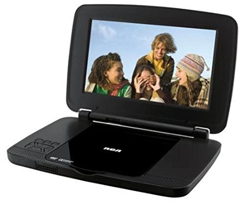 RCA DRC99392E 9-Inch Portable DVD Player with Rechargeable Battery and Remote Control, Black (Certified Refurbished)