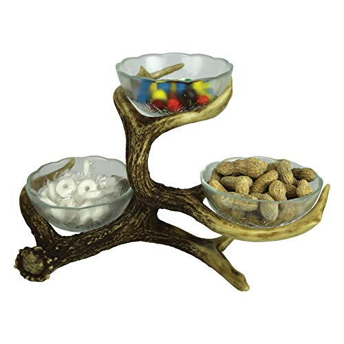 Three Bowl Deer Antler Candy Dish Stand Kitchen units Stainless metal mixing bowls by Kitchen mixing bowls with lids Matceramica portugal Popcorn bowls ceramic Mixing bowls microwave with lids