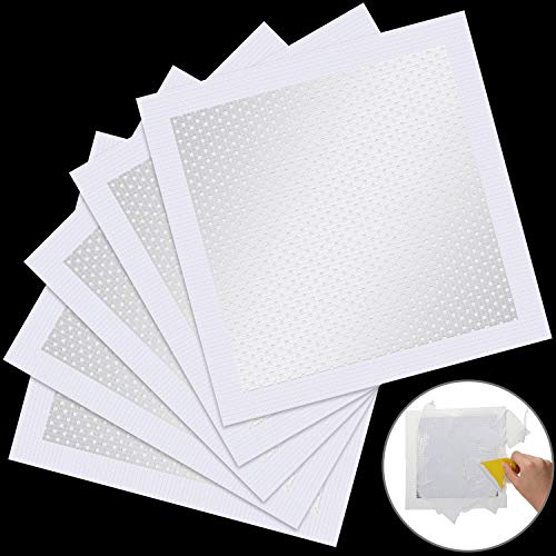 8 x 8 Inch Aluminum Wall Repair Patch Self Adhesive Screen Patch Repair for Drywall Plasterboard (5 Pieces)