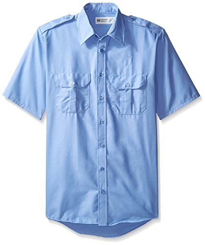Horace Small Men's Big and Tall Classic Short Sleeve Security Shirt, Medium Blue, X-Large