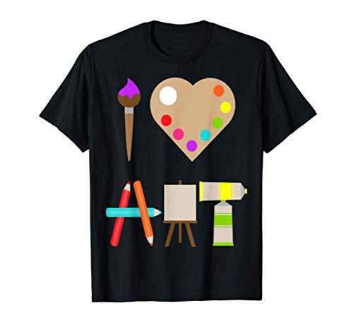 COOL I LOVE ART FUN COLORFUL FUTURE ARTIST AND CRAFTS TEE T-Shirt