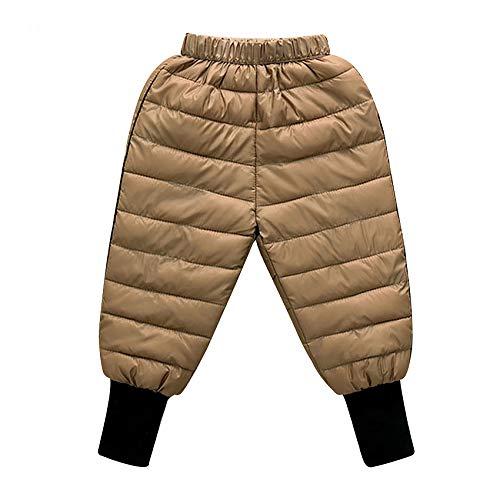 Pantalones para NiñOs OtoñO Invierno NiñOs Abajo AlgodóN Leggings para NiñAs PequeñAs Pantalones CáLidos para NiñOs A Prueba De Viento Impermeable Nieve