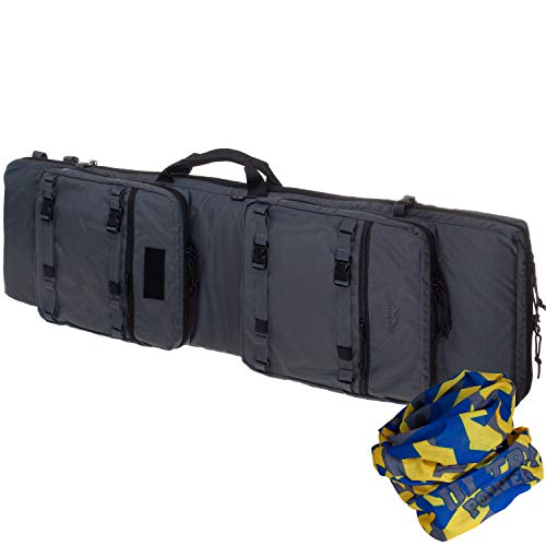 Wisport Tactical Bolsa de Doble Rifle + Tela de Tubo Ultrapower | Funda de Rifle | Militar | Caza | Cordura | 120+ | 49. Grafito