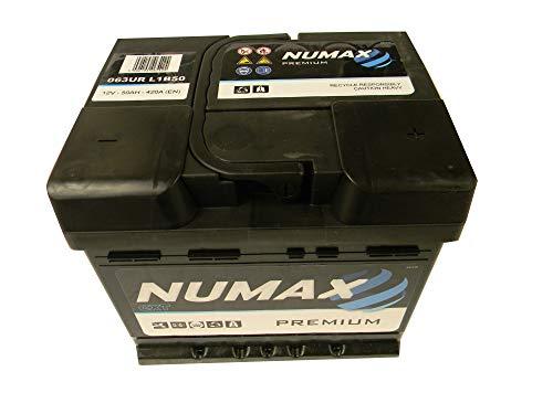 Numax Batterie Voitures Premium 063UR LB1 12V 50AH 420 AMPS (EN)