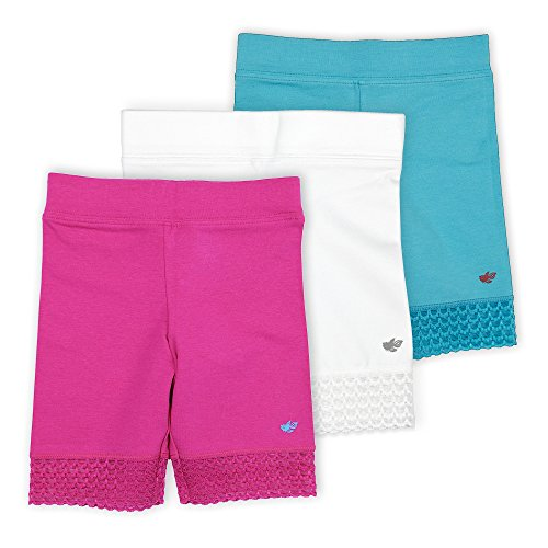 Sparkle Farms Big Girls Knit Cotton Playground Shorts 3-pack Sizes 3-12
