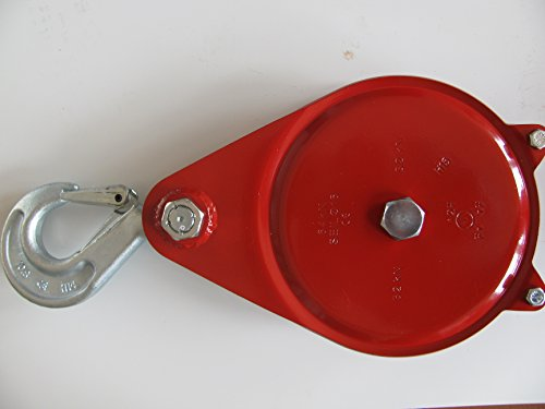 Seilrolle/Umlenkrolle mit aufklappbarem Seitenblech, SRK-10 Sondergüte 8plus Zuglast 40kN