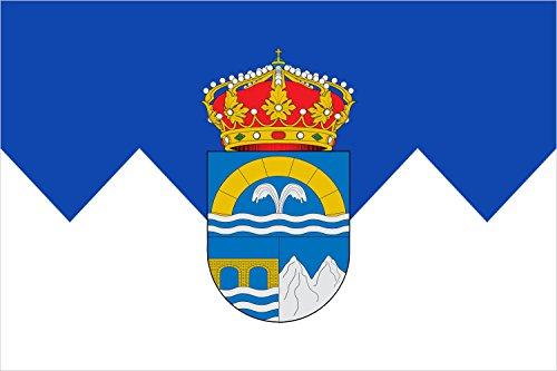magFlags Bandera Large Escudo heráldico de Velilla del Río Carrión Palencia Escudo Cortado y Medio Partido; 1.º de Azur | Bandera Paisaje | 1.35m² | 90x150cm