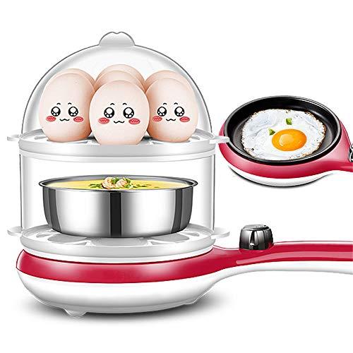 ZJDU Eierkocher, 350W Elektro-Eierkocher,Weißer Eierkocher,14 Eierkapazität Eierkocher Mit Automatischer Abschaltung,pink