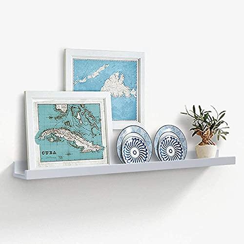 AHDECOR Wandregal Schweberegale für Fotorahmen und Bücher, 91.44x10.16cm, Modernes Wandboard Bilderrahmenleisten Regal,Weiß