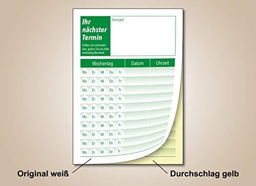 20 x Terminblock mit Durchschlag je 50 Terminzettel DIN A7 (grün)