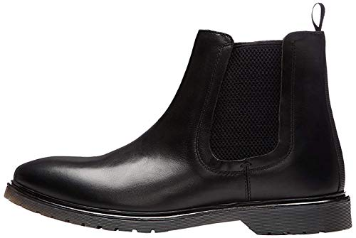 find. Leather Cleated Botas Chelsea, Negro Black, 42 EU