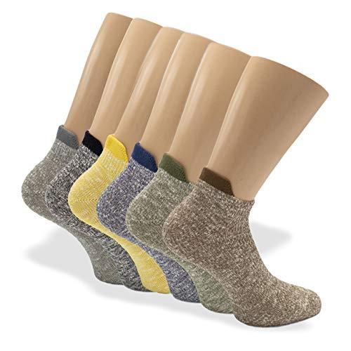 LP Flapped - 6 pares 1 par azul, 1 par amarillo, 1 par verde oliva, 1 par marrón quemado, 1 par negro, 1 par gris 43/46 EU