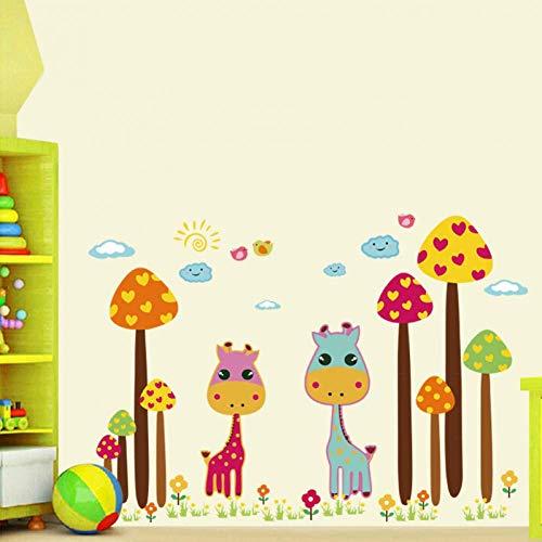 GWFVA Idee Strip Giraffe Kwekerij Slaapkamer Decoratie Verwijderbare Muurstickers Woonkamer Slaapkamer Behang Stickers