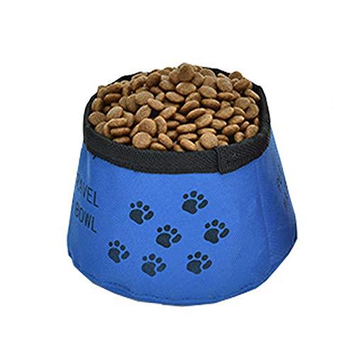 N-brand PULABO - Comedero plegable para perros, impermeable, portátil, para beber comida...