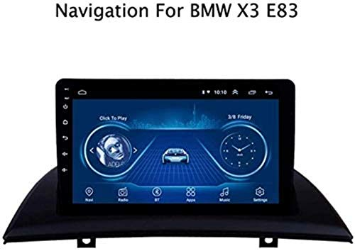 Yunbb Autoradio Android 8.1 9 Zoll Auto GPS Navigation Fahrzeug Video Player für BMW X3 E83 2004-2012 mit Canbus Support Mirrorlink/Bluetooth/Lenkradsteuerung/USB/AUX in,4G+WiFi,1+16G