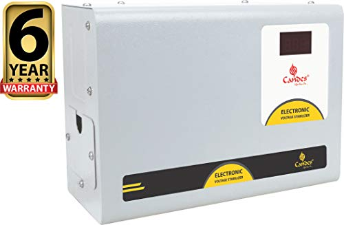 Candes Crystal 4kVA for 1.5 Ton AC (90V to 290V) Voltage Stabilizer with Wide Working Range Best for Inverter AC,...