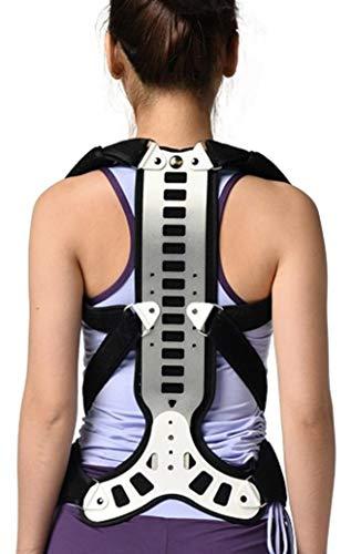 GHJL Metal Back Brace Posture Corrector, Adjustable Thoracic Spinal Brace Support Recover, Postural Extension Vest & Back Straightener Brace for Kyphosis Humpback Correction, (Size : M)
