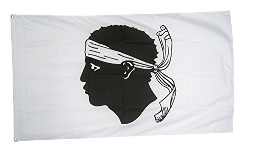 Flaggenfritze Fahne/Flagge Frankreich Korsika - 150 x 250 cm + gratis Sticker, XXL-Fahne