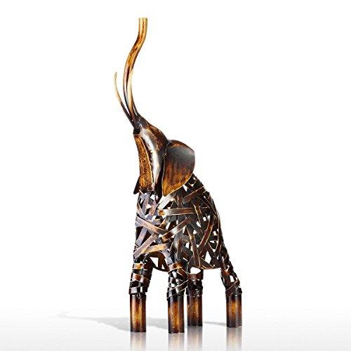 Tooarts Tessitura Elefante Scultura in Ferro per la Decorazione Domestica Ornamento Regalo