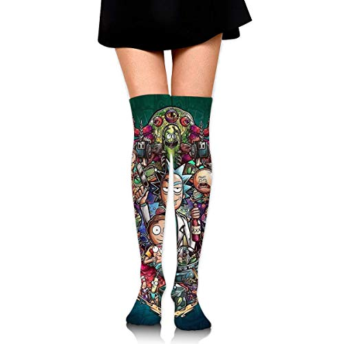 185 Herrensocken,Ri-Ck Und Mor-Ty Fun Damen Socken, Dekorative Modesocken Für Das Sportwandern,65cm